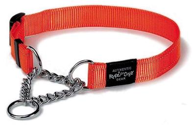 Rogz for dogs lumberjack choker oranje