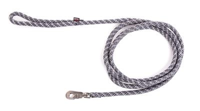 Looplijn voor hond longe nylon reflecterend grijs 13 mmx300 cm