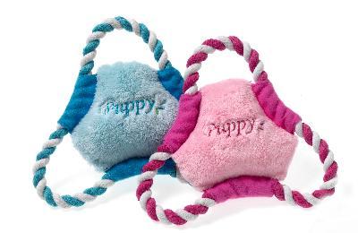 Karlie puppy frisbee roze of lichtblauw
